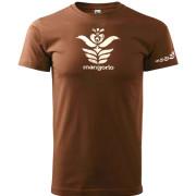 Angyalos szűr mintás barna unisex póló