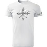Fehér színű népi motívumos póló