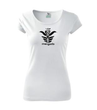 Fehér színű női póló magyar népi motívummal