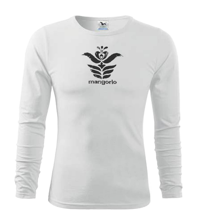 Fehér színű hosszú ujjú férfi póló egyedi motívummal d063c9984b