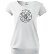 Fehér színű népi kör mintás póló