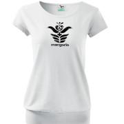 Fehér színű női mangorlo póló