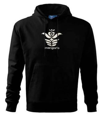 Fekete kapucnis pulóver magyar motívummal