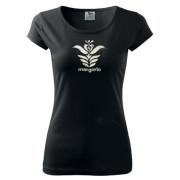 Fekete női motívumos póló