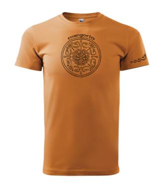 Narancs színű unisex póló népi kör montívummal