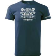 Kék varrottas motívumos póló