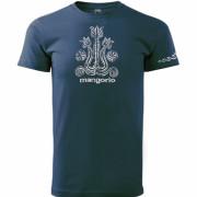 Kék színű magyar népi motívumos póló