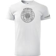 Fehér színű kör mintás póló