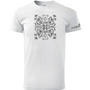 Fehér színű unisex póló népi motívummal