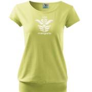 Lime színű női póló magyar motívummal