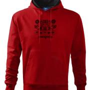 Madaras varrottas férfi kapucnis pulóver