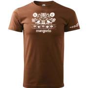 Madaras varrotta mintás barna színű póló