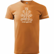 Narancs színű póló népi gerinc mintával
