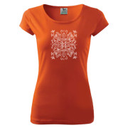 Liliom motívumos női narancsszínű póló