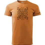 Narancs színű mangorló póló