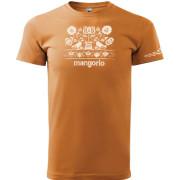 Narancs színű póló magyar népi motívummal