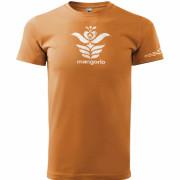 Narancs színű népi motívumos unisex póló