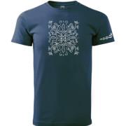 Kék színű motívumos póló