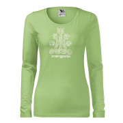 Női zöld színű póló magyar motívummal