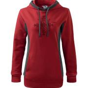 Piros szürke pulóver magyar motívummal