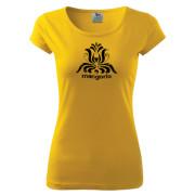 Sárga színű női póló magyar népi motívummal