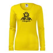 Sárga színű női póló magyar motívummal