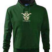Zöld férfi pulóver népi angyalos szűr mintával