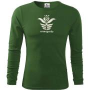 Zöld magyar népi motívumos hosszú póló