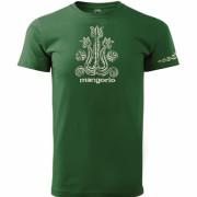 Magyar népi motívumos póló zöld színben