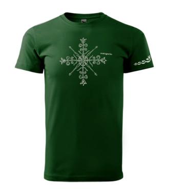 Zöld póló magyar népi motívummal
