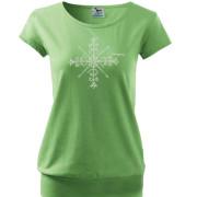 Zöld rövid ujjú póló motívummal