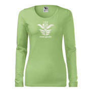 Zöld színű női póló magyar mintával
